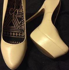 Cute Jessica Simpson Waleo Platform Pump Heel Stiletto In Cream Leather Size 10  | eBay