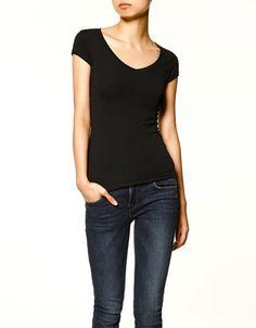 Basic V-neck T-shirt by Zara