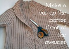 Upcycle a thrift store sweater with this easy to follow photo tutorial by the Renegade Seamstress   ~t~