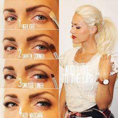 Get the best makeup tutorials from the web. These DIY tutorials include makeup tips for face makeup, eye makeup, eyebrows, lipstick, and beauty basics! Best Makeup Tutorials, Everyday Makeup Tutorials, Best Makeup Products, Beauty Products, Eye Makeup Tips, Makeup Ideas, Makeup Inspo, Makeup Hacks, Diy Makeup