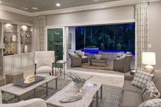 Toll Brothers - Vanguard Great Room with Open Patio - NorthGrove at Spring Creek – Magnolia, TX – Montgomery County