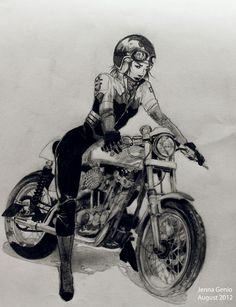 29 Ideas For Motorcycle Girl Illustration Biker Chick bmw yamaha for women gear girl harley tattoo Motorcycle Posters, Motorcycle Art, Bike Art, Motorcycle Wheels, Women Motorcycle, Biker Chick, Biker Girl, Pin Up, Cafe Racer Girl