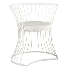 Handmade indoor/outdoor accent chair with a curved openwork metal frame and powder-coated finish.  Product: ChairCon...