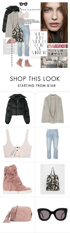 """What about a comeback?"" by frou-frou ❤ liked on Polyvore featuring MISBHV, Alexander Wang, Puma, Levi's, Casadei, Marni, Gucci, CÉLINE and Rika"