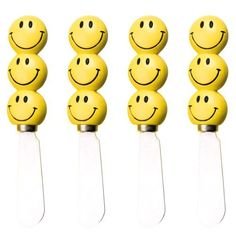 Happy Faces Kitchen Spreaders, Set of 4