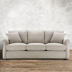 Landsbury Sofa, Arhaus  U003e Find Similar Sofa In Darker Shade, Pair W Bright  Patterned Chair U0026 Dark Accent Furniture