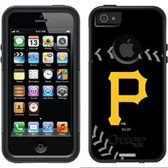 """Pittsburgh Pirates - stitch"" Pirates design on OtterBox® Commuter Series® Case for iPhone 5s / 5 in Black"