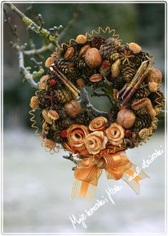 Christmas,  wreath with cones