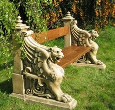 Winged Lion Bench with Commemorative Plaque £2885