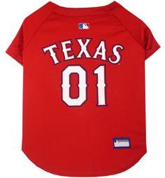 Texas Rangers MLB Dog Jersey