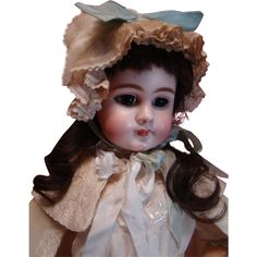Large 27 Inch Antique Closed Mouth DEP French Jumeau Size 11 Estate Doll, Prize Example You Must See
