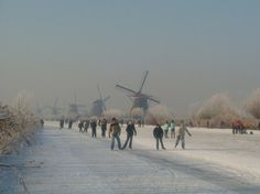 Ice skating in Netherlands. Although already ticked off, the Elfstedentocht is still on there.
