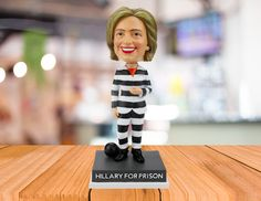 Limited Edition Collector's Item Are you sick of seeing Crooked Hillary break the law but somehow avoid going to jail? Well, now is your chance to see Hillary the way she belongs--in a prison jumpsuit