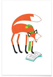 Scarf Fox - Patricia Mafra - Affiche premium