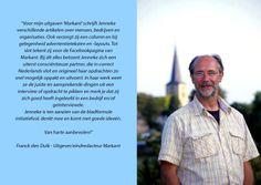 Aanbeveling Franck den Dulk - Uitgever/eindredacteur Markant Magazine