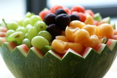 Wedding Food: Watermelon Bowl with Fruit