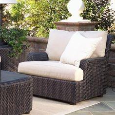 Woodard Aruba Patio Chair with Cushions Chair Fabric: Sunbrella Ginko Dance Patio Lounge Chairs, Patio Dining, Bar Chairs, Club Chairs, Office Chairs, Chair Fabric, Chair Cushions, Outdoor Patio Bar, Outdoor Decor