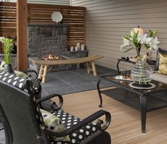 Under deck - fire & outdoor room http://www.paradiserestored.com/portfolio/arnzen-property/