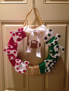 Fsu and Usf wreath!! Happy Football Season! :)