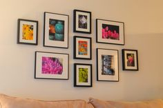 Gallery Wall and how to hang Ribba frames