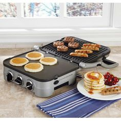 Prefect for grill cheese parties Cuisinart Griddler Multi-tasking appliance gives you 5 cooking functions in one!half griddle and grill, full open griddle, full open grill, contact grill, panini press. Cooking Gadgets, Cooking Tools, Kitchen Gadgets, Cooking Utensils, Kitchen Stuff, Kitchen Tools, Kitchen Ideas, Cooking Supplies, Kitchen Appliances