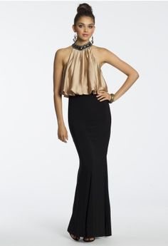Beaded Cleo Collar Blouson Dress from Camille La Vie and Group USA #homecomingdresses #homecoming