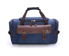 Bag Leather Duffle Canvas Travel Luggage Carry on and Storage Bags *** Find out more about the great product at the image link. (Note:Amazon affiliate link)