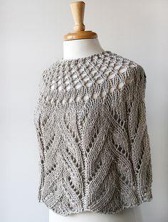 Organic Cotton Hand-Knit Capelet by Elena Rosenberg Wearable Fiber Art, via Flickr