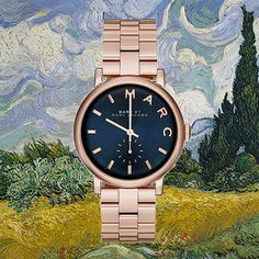 In a timely fashion  •  Marc by Marc Jacobs Baker Bracelet 36MM in Rose Gold/ Navy