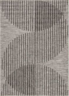 The Decora collection by Nikki Chu combines bold and graphic designs with a striking yet versatile palette. The ikat-inspired Idra area rug brings geometric appeal to indoor and outdoor spaces with a worldly tile pattern in brown and ivory. Carpet Flooring, Rugs On Carpet, Stone Rug, Rug Texture, Indoor Outdoor Rugs, Outdoor Spaces, Carpet Cleaners, Black Rug, Brown Rug
