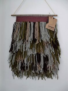 Hand Woven Seaweed Shaggy Tapestry by racheljOK on Etsy