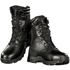 Men Waterproof Boots 9 Inch Penetration Resistant Composite Toe Shoes Tactical Steel Toe Work Boots(Black 9)