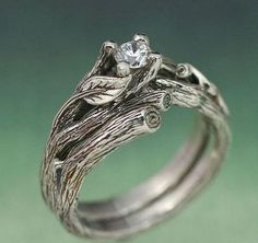 From the artist BandScapes on Etsy... there are some incredibly gorgeous detailed rings in their shop!