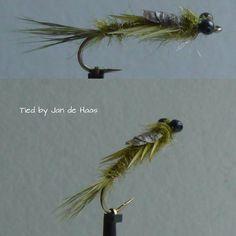 Damsel nymph #flyfishing #flytying
