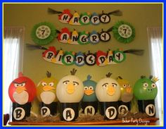 Image Detail for - Angry Birds Birthday Party, I know I was. Everything for this party . Cumpleaños Angry Birds, Festa Angry Birds, Bird Birthday Parties, Birthday Fun, Birthday Ideas, Birthday Crafts, Oh My Fiesta, Bird Party, Star Wars Party