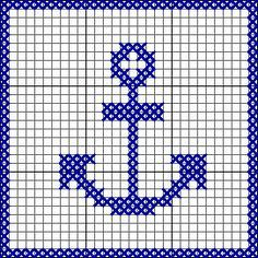 knit anchor pattern - Google Search