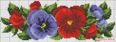 This Pin was discovered by Yağ Cross Stitch Art, Cross Stitch Borders, Cross Stitch Flowers, Cross Stitching, Cross Stitch Embroidery, Hand Embroidery, Cross Stitch Patterns, Bead Loom Patterns, Loom Beading