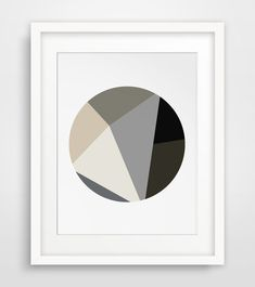 Minimalist Print Brown Geometric Print by MelindaWoodDesigns