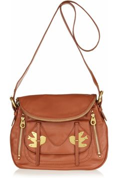 Marc by Marc Jacobs Natasha Petal to the Metal Leather Shoulder Bag