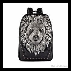 Art- und Weise wilden Ursprüngliche 3D Löwe förmigen Niet Rucksack #bag #Backpack #lion
