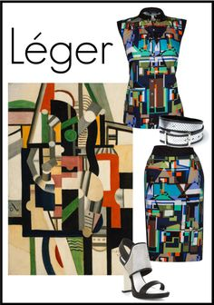 """Léger - Art into Fashion"" by crverfurth ❤ liked on Polyvore"