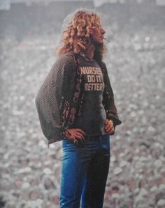 Robert Plant -- that crowd back there!