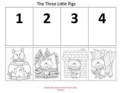 I'll Huff and Puff my way to your classroom. This is a oinking good way to let your littles ones retell the story The Three Little Pigs and the Big Bad Wolf. Lets keep these traditional stories alive. 3 Little Pigs Activities, Phonics Flashcards, Fairy Tales Unit, Alphabet Sounds, Transitional Kindergarten, Story Sequencing, Traditional Stories, Preschool Writing, Jolly Phonics