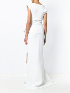Maticevski structured side slit gown