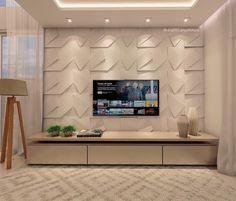 Living room tv wall decor bathroom 23 Ideas for 2019 Interior Design Living Room, Interior Modern, Living Room Decor, Tv Wall Decor, Bathroom Wall Decor, Bathroom Ideas, Living Room Tv Unit Designs, Muebles Living, Tv Wall Design