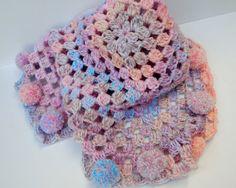 Pram Blanket Baby Girl Blanket Baby Afgan by ForeverYoursHandmade