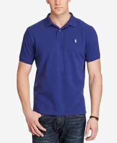 Polo Ralph Lauren Men's Big & Tall Classic Weathered Cotton Mesh Polo - Blue 4XB