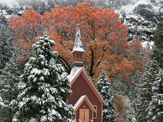 Most people visit Yosemite National Park for the majestic scenery, and some go to church while they're there. The Yosemite Valley Chapel is ...