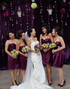 colors?! Love short bridesmaids dresses