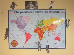 Ma première carte du monde avec une partie de nos personnages